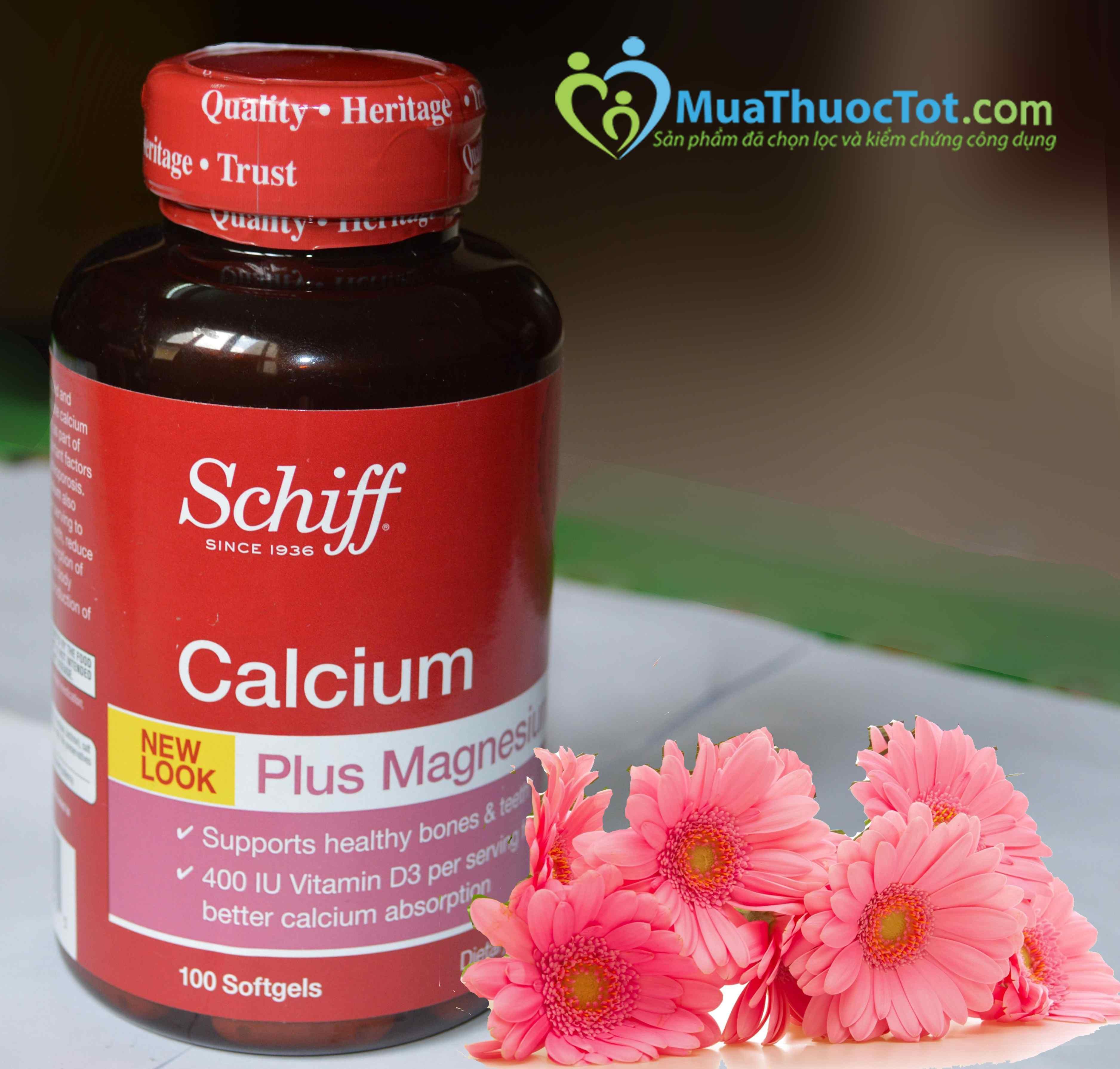 Uống 2 viên Schiff Calcium để bổ sung canxi
