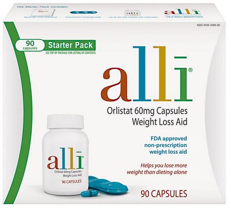 Alli Orlistat 60mg Capsules Weight Loss Aid tác dụng giảm cân bền vững
