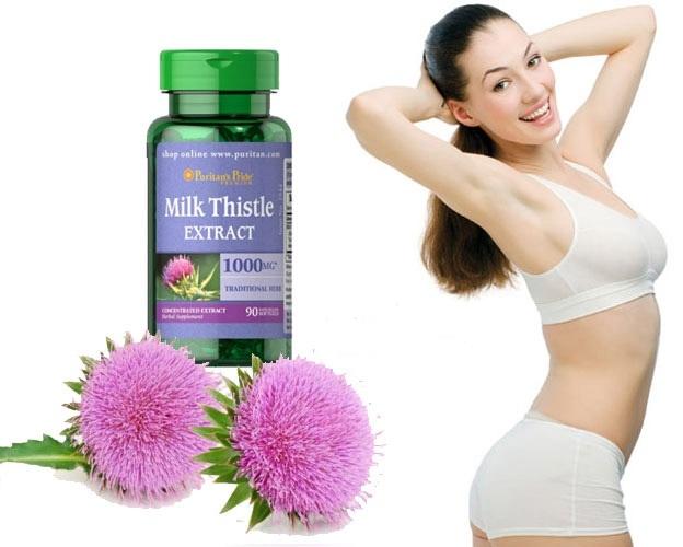 Milk thistle extract 1000mg bổ gan có tốt không ? giá bao nhiêu?