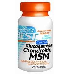 Doctor's Best Glucosamine Chondroitin MSM - Viên Uống Hỗ Trợ Điều Trị Bệnh Thoái Hóa Và Viêm Xương Khớp, 240 viên