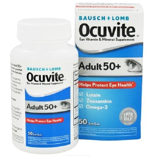 Kết quả hình ảnh cho Viên bổ mắt cho Ocuvite Adult 50+