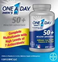 One A Day Men's 50+ Healthy Advantage, 200 viên: Thực phẩm chức năng bổ sung hiệu quả các vitamin cho nam giới 50+