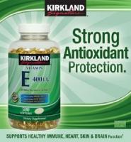 Kirkland Signature Vitamin E 400 IU, 500 viên: Viên bổ sung hiệu quả Vitamin E giúp đẹp da, chống lão hóa.