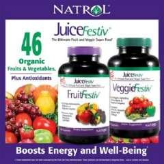 Natrol® JuiceFestiv, 240 viên- Viên uống cung cấp vitamin, chất chống oxy hóa, Probiotics và enzyme tiêu hóa.