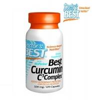 Doctor's Best Curcumin C3 Complex: Viên uống chiết xuất từ nghệ và tiêu đen hỗ trợ điều trị ung thư, các bệnh về gan và chống lão hóa, 120 viên, 500 mg