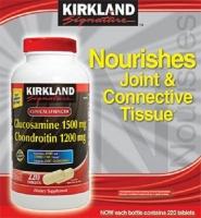 Kirkland Signature Glucosamine 1500 mg & Chondroitin 1200 mg 220 viên: Hỗ trợ điều trị bệnh về sụn xương khớp