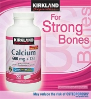 Kirkland Signature Calcium 600mg + D3  - Thực phẩm chức tăng tăng cường Canxi và Vitamin D3 giúp xương chắc khỏe hơn.
