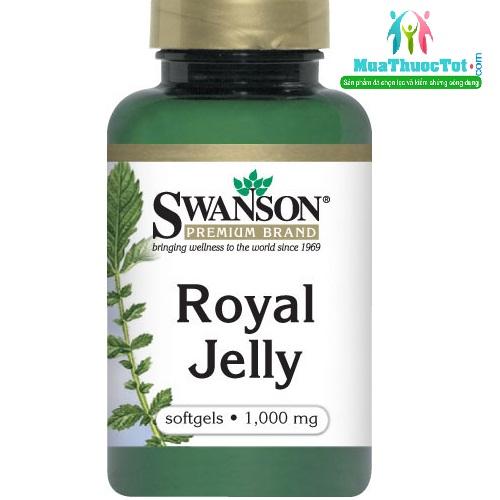 Sữa ong chúa Swanson Royal Jelly 1000mg - viên uống nâng cao sức đề kháng, 100 viên