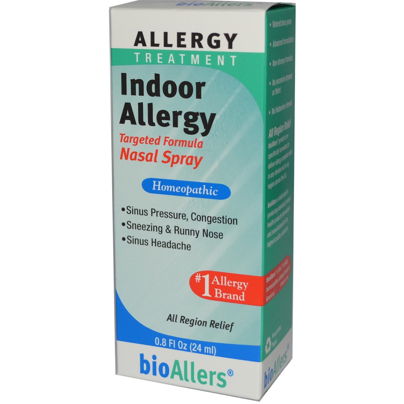 BioAllers Indoor Allergy Nasal Spray 24 ml: Nước xịt hỗ trợ đặc trị hiệu quả các triệu chứng viêm xoang, hắt hơi, đau đầu.