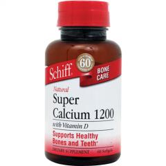 Thuốc bổ sung dưỡng chất, hỗ trợ xương khớp khỏe mạnh - schiff super calcium 1200mg with vitamin d