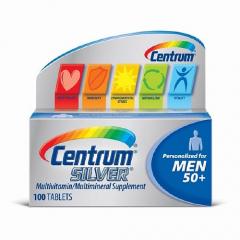Centrum Silver Ultra Men's 50+ 100 viên: Viên cung cấp vitamin và khoáng chất cho nam giới trên 50 tuổi