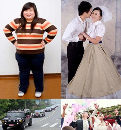 Thiếu nữ gần 100kg giảm cân thành công, cưới chồng đẹp trai