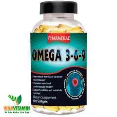 Pharmekal Omega 3-6-9: Chống mỏi mắt sáng mắt ngăn ngừa tim mạch, 100 viên