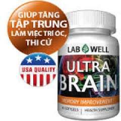 Lab Well Ultra Brain, 60 viên: Thực Phẩm chức năng giúp trí não phát triển tốt hơn.