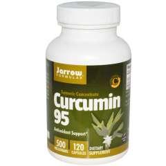 Jarrow Curcumin 95, 500mg: Viên uống giảm đau dạ dày và hỗ trợ điều trị viêm gan, ung thư, 120 viên