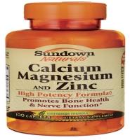 Sundown Naturals Calcium Magnesium & Zinc 100 viên – Viên uống Bổ sung khoáng chất cho hệ xương chắc khỏe