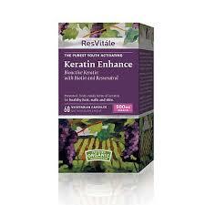 Resvitale Keratin Enhance- Viên bổ sung dưỡng chất giúp da, móng, tóc khỏe đẹp, 60 viên.