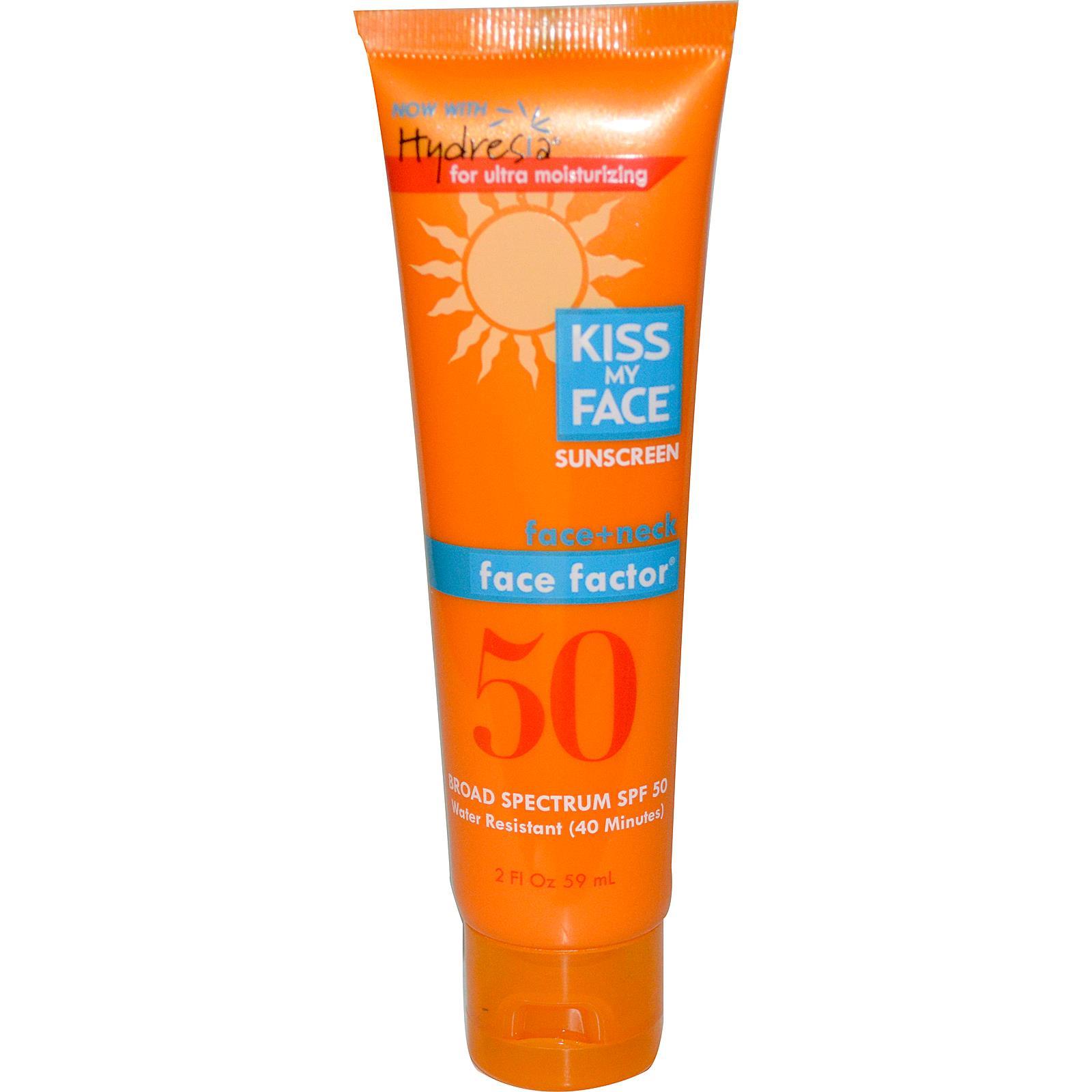 Kiss My Face® Face Factor SPF 50 for Face & Neck, Kem chống nắng cho vùng mặt và cổ, 59ml