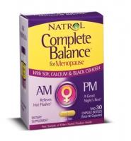 Natrol Complete Balance for Menopause AM - PM: 60 viên, Thuốc cân bằng hócmôn tự nhiên dành cho phụ nữ mãn kinh và tiền mãn kinh