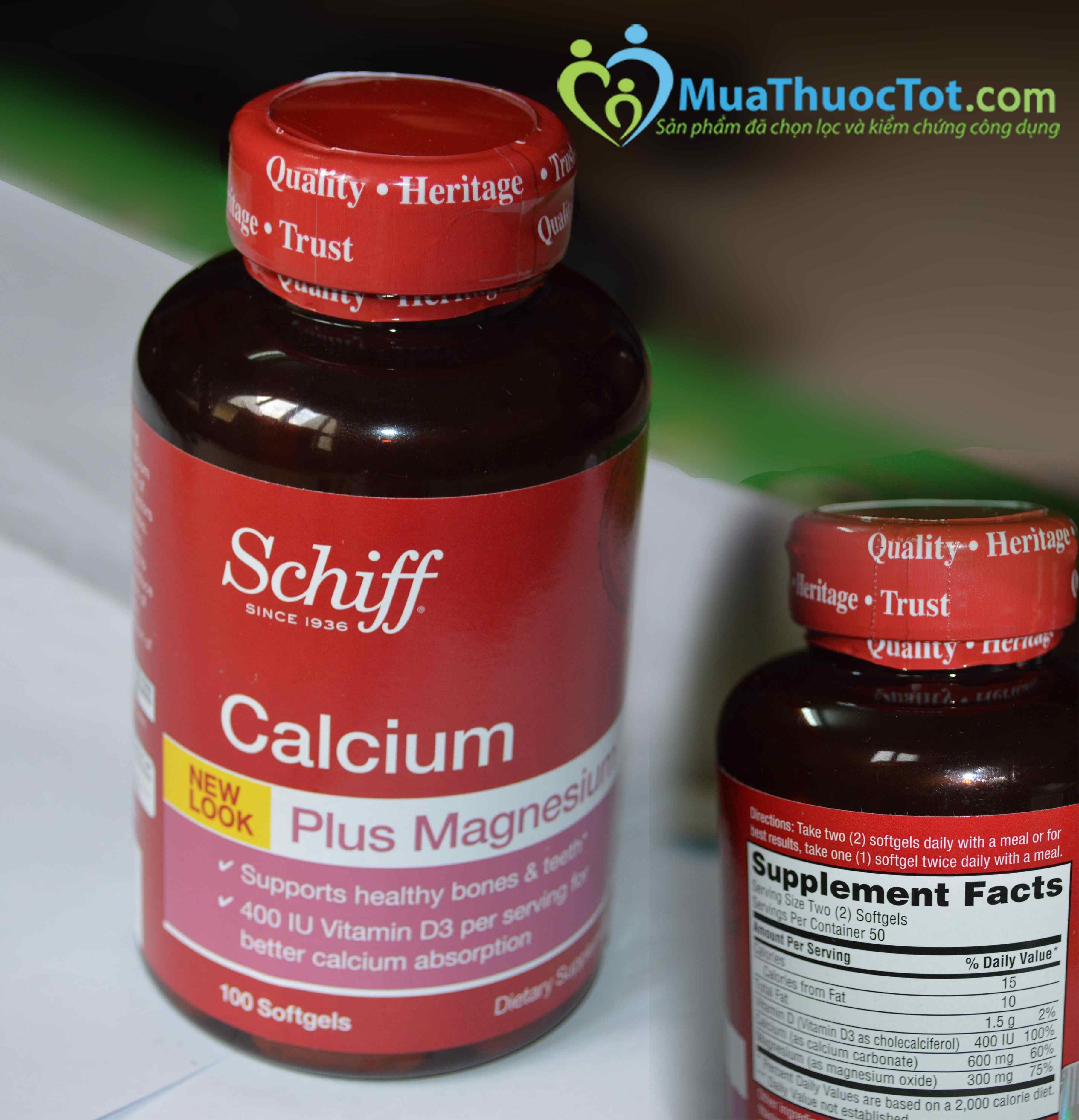 Schiff calcium  chăm sóc toàn diện sức khỏe xương khớp cho mọi gia đình