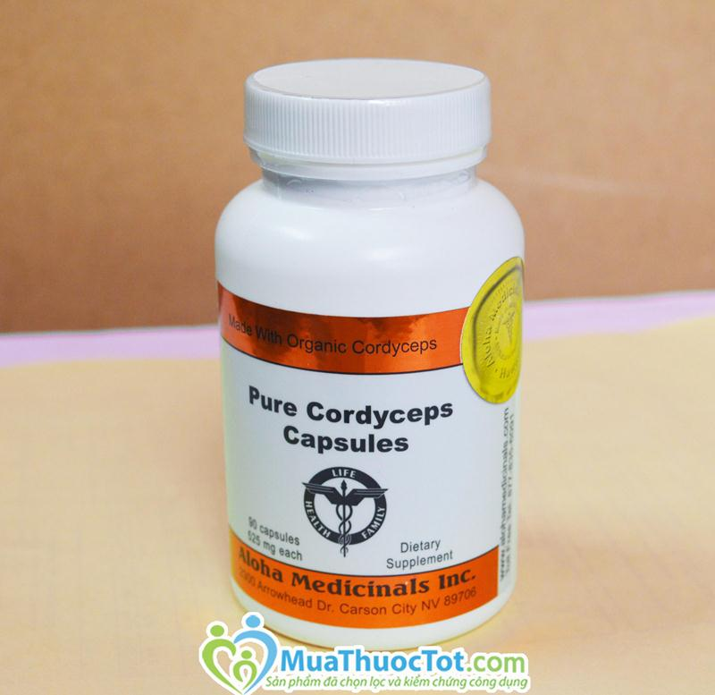 Sản phẩm Pure Cordyceps Capsules – Đông Trùng Hạ Thảo 525mg, 90 viên