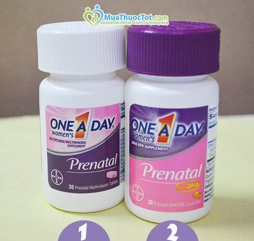 Uống One A Day Prenatal mỗi ngày giúp bà bầu và thai nhi khỏe mạnh
