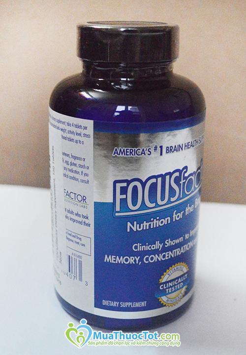 Focus Factor - Thuốc bổ não, tăng cường trí nhớ cho học sinh và người già