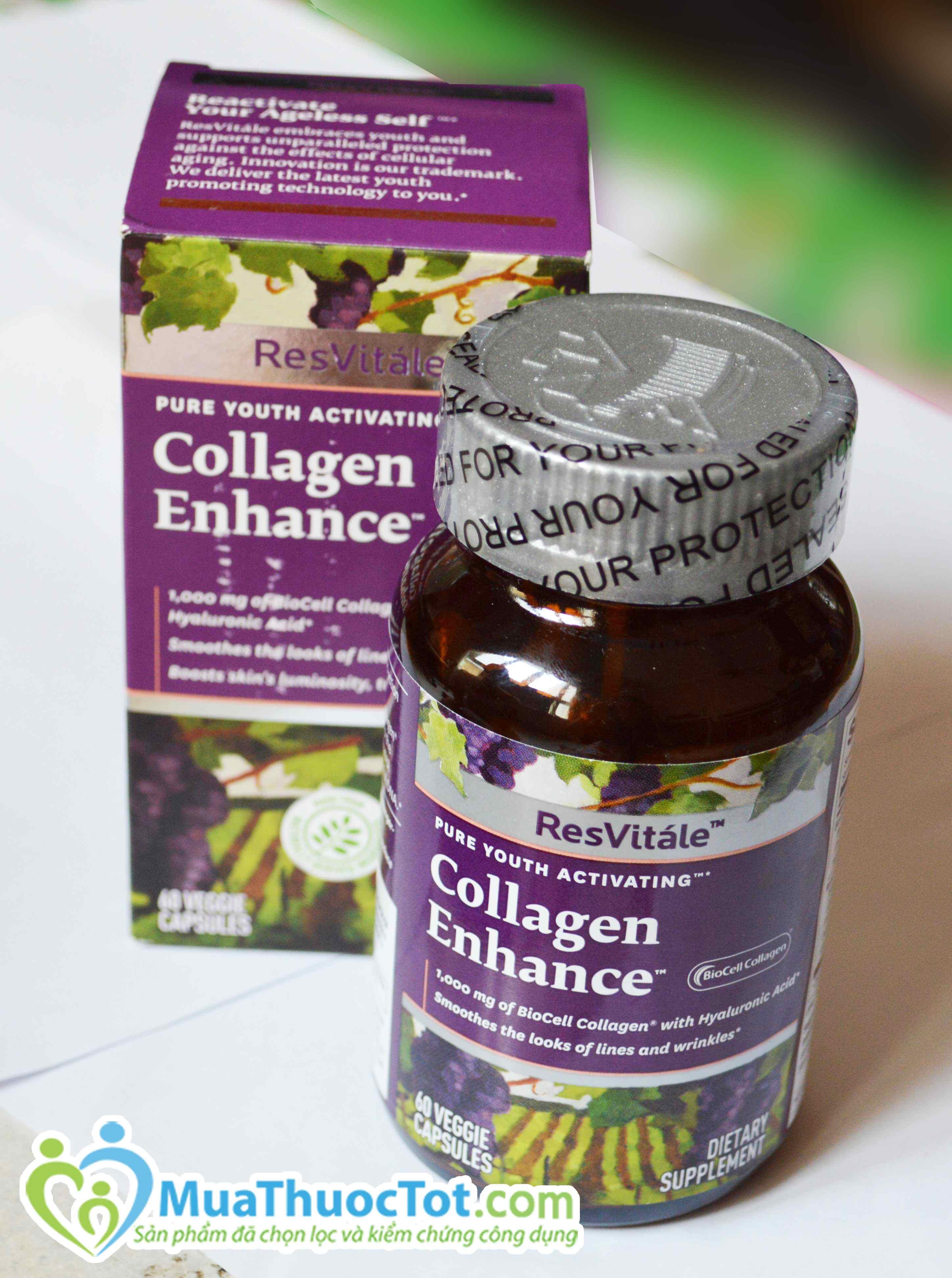 1. thuốc bổ sung collagen làm đẹp da gnc resvitále™ collagen enhance có tốt không