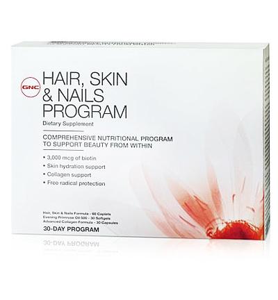 GNC Hair, Skin & Nails Program: Bộ 3 sản phẩm chăm sóc Da, Tóc, Móng 60 viên