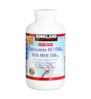 Kirkland Signature Glucosamine HCL & MSM 1500mg- Viên uống hỗ trợ điều trị các bệnh xương khớp 375 viên