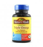 Triple Omega, Omega 3 6 9 Nature Made : hỗ trợ tim mạch, chống lão hóa , 180 viên