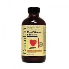 Childlife Multi Vitamin Mineral Orange Mango Flavor - Thuoc Bổ Sung Vitamin và Khoáng Chất Thiếu Yếu Cho Bé, 237 ml