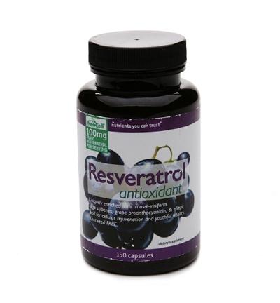 Neocell's Resveratrol Antioxidant 100 mg 150 viên: Viên uống tăng cường sức khỏe tim mạch, chống oxi hóa