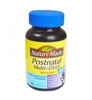 Nature Made Postnatal Multi Vitamins DHA 200mg 60 viên: Thuốc bổ dinh dưỡng cho bà mẹ cho con bú