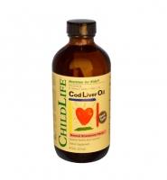 ChildLife Cod Liver Oil Strawberry, 237 ml - Dầu cá tuyết bổ sung hàm lượng DHA cho trẻ.