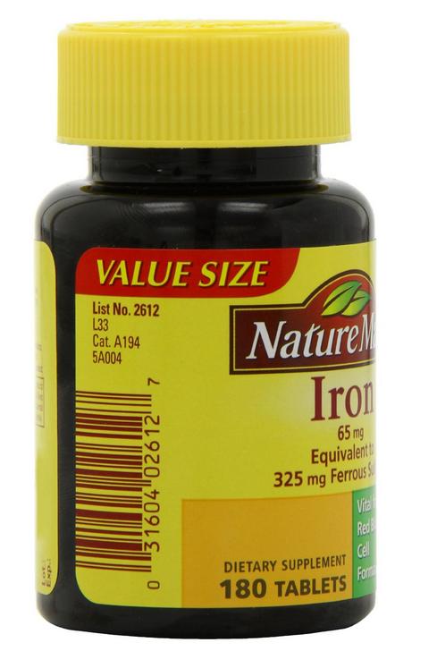 Viên uống bổ sung sắt NatureMade Iron cần thiết cho mọi gia đình