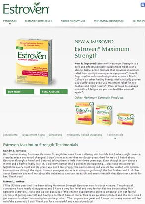 Vì sao bạn nên lựa chọn estroven maximum strength energy