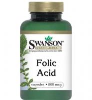 Thuốc bổ sung folic acid cho bà bầu Swanson Folic Acid 800 mcg 250 viên