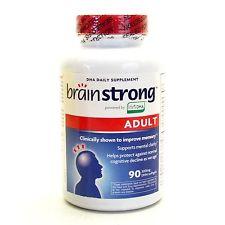 BrainStrong Adult DHA: Viên uống giúp tăng cường trí nhớ cho người lớn,  300 mg 90 viên