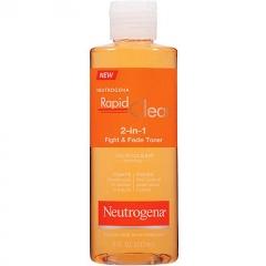 Neutrogena Rapid Clear 2 In 1 Fight & Fade Toner: Dung dịch trị mụn và làm mờ vết thâm sau mụn, 237 ml