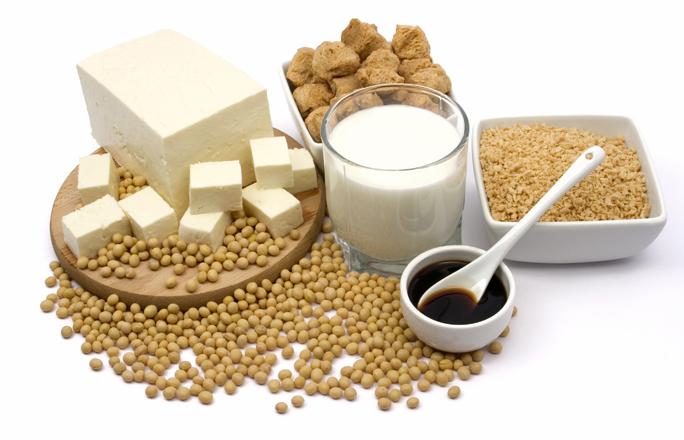 Tinh chất mầm đậu nành có tác dụng như nội tiết tố rất tốt cho phụ nữ tuổi tiền mãm kinh
