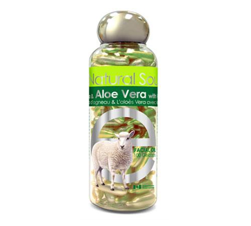 Lamb Placenta with Aloe Vera & Vitamin E, 100 viên: Viên làm đẹp da, chống lão hóa với các thành phần từ nhau thai cừu, nha đam và Vitamin E