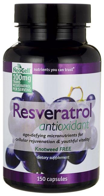 NeoCell's Resveratrol Antioxindant từ hợp chất resveratrol cải thiện hệ thống tim mạch, chống oxy hóa