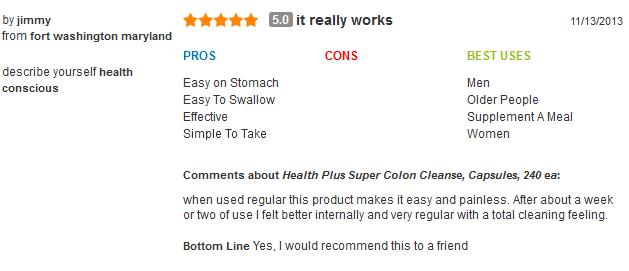 Health plus super colon cleanse với herbs and acidops,60 viên: viên hỗ trợ và giải độc đường ruột mẫu mới 2018