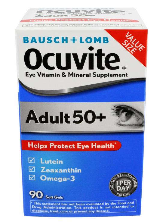 Baush + Lomb Ocuvite giúp bảo vệ sức khỏe của mắt dành cho người trên 50 tuổi