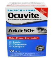 Baush + Lomb Ocuvite 50 +: 90 viên - Viên uống bổ mắt dành cho người từ 50 tuổi trở lên.