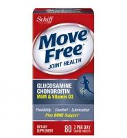 Move Free Glucosamine Chondroitin MSM and Vitamin D3 80 viên: Hỗ trợ điều trị xương khớp và bôi trơn xương khớp