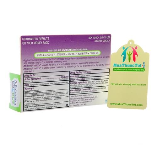 Kem trị sẹo mederma for kids - dành riêng cho trẻ em