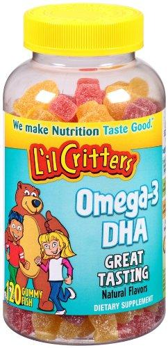 Kẹo dẻo L'il Critters Omega-3 plus DHA Gummy Fish