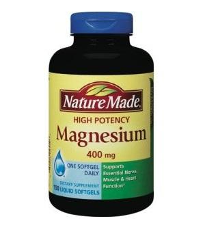 Nature Made High Potency Magnesium 400mg giúp tăng cường cơ bắp và xương khớp